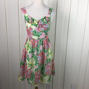 Lilly Pulitzer Sleeveless Floral Dress Size 4